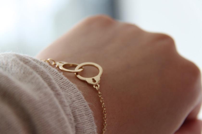 bracelet, gold, handcuffs