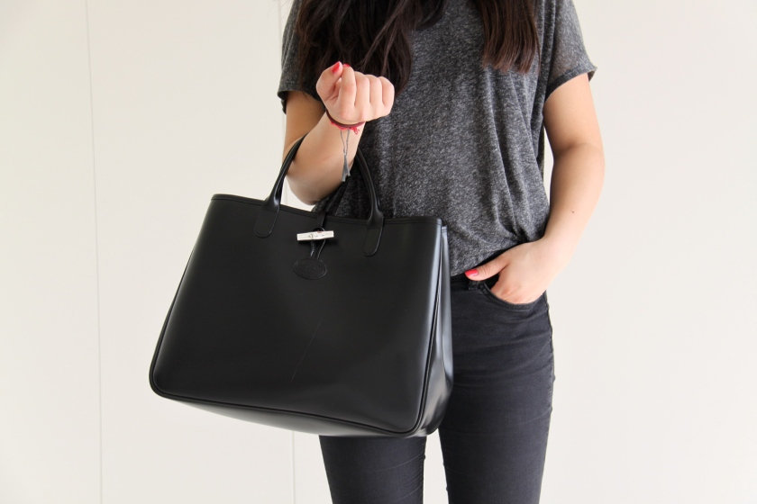 urban outfitters shirt, longchamp bag, zara trousers