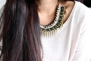 zara, necklace, fashion